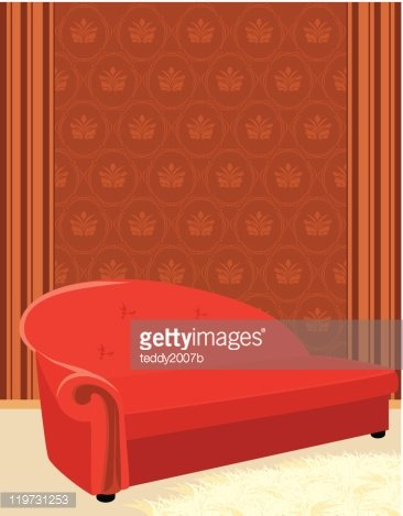 Red Sofa And Shaggy Carpet Premium Clipart Clipartlogo Com