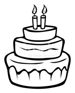 Super Birthday Cake Outline Clipart 1 566 198 Clip Arts Birthday Cards Printable Trancafe Filternl