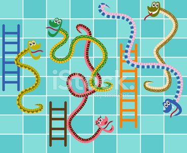 Snakes and ladder game template ...   Stock vector   Colourbox