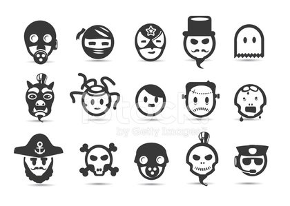 Mobilicious Evil Bad Character Icon Set