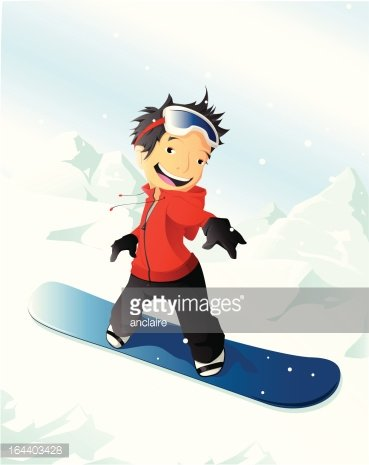 Boy On A Snowboard Clipart 1 566 198 Clip Arts
