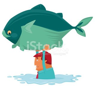Man Catching Big Fish Premium Clipart Clipartlogocom