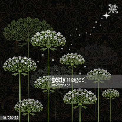 Queen Annes Lace clip art | Queen annes lace, Penny black, Whimsy flowers