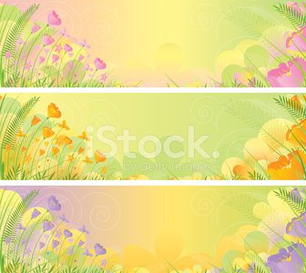 Spring Banners, in three versions