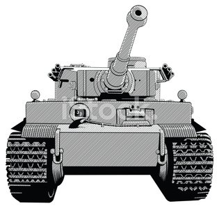 Front view close up of tank