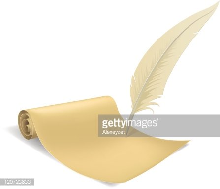 Old Paper Scroll and Feather premium clipart - ClipartLogo com