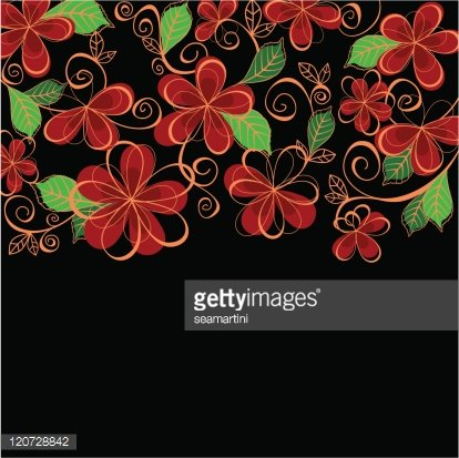 Abstract floral background for textile design