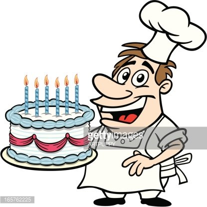 Awe Inspiring Cartoon Guy With Birthday Cake Clipart Image Personalised Birthday Cards Paralily Jamesorg