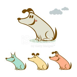 Dirty dawgs fun dog pet personalities character illustration