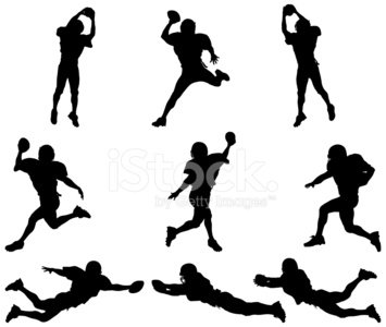 All star football player silhouettes images