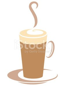 Coffee cup vector graphic logo