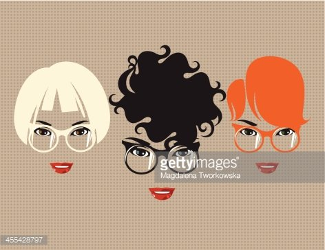 Three women with glasses.