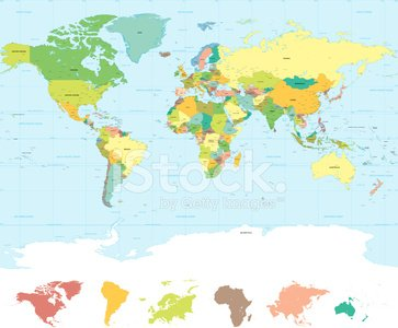 Traditional colors high quality vector world map premium clipart traditional colors high quality vector world map gumiabroncs Image collections