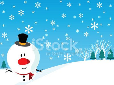Mrs. snowman. A cute snowman lady in scarf and hat is smiling and holding a  bulletin board.