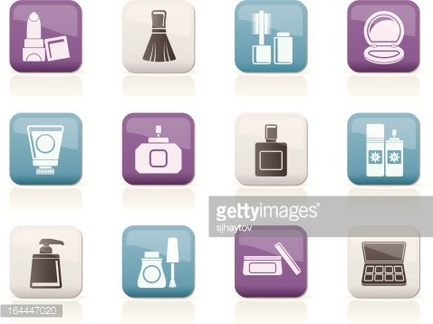 Cosmetic Industry and Beauty Icons premium clipart