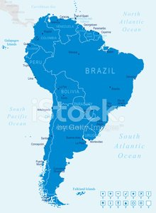 South America - map and navigation icons