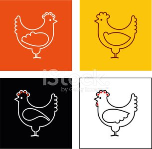 Chicken - isolated vector icon