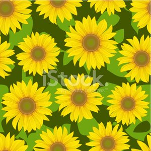 sunflower flower seamless background