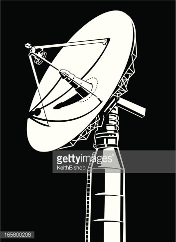 Large Satellite Dish Antenna Receiver And Transmitter For Television..  Royalty Free Cliparts, Vectors, And Stock Illustration. Image 107175291.