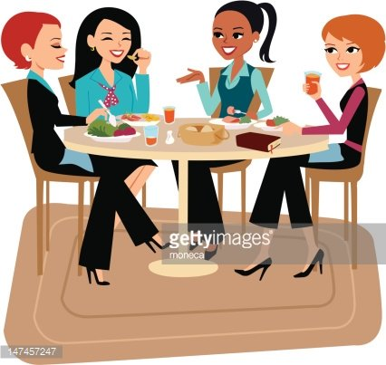 Women Having Lunch Together
