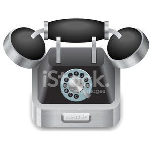Icon for vintage phone