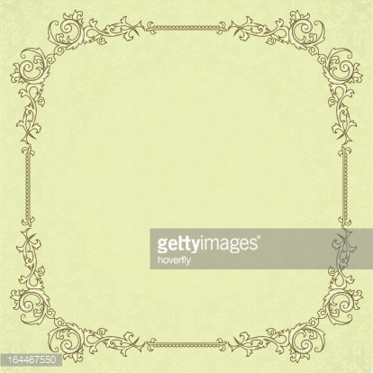 Vintage Frame OR Blank for Diploma ON Damask Background premium ...