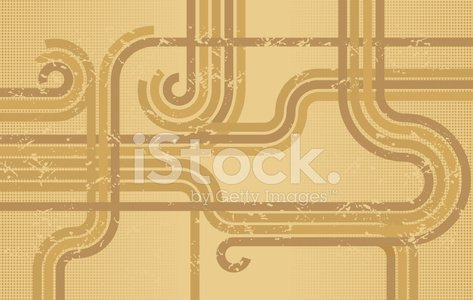 Retro grunge sepia stripes and dots background