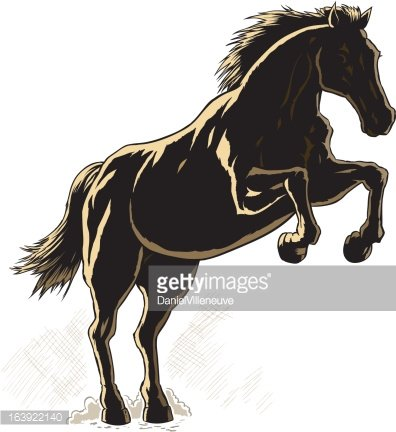 Outline of a horse.