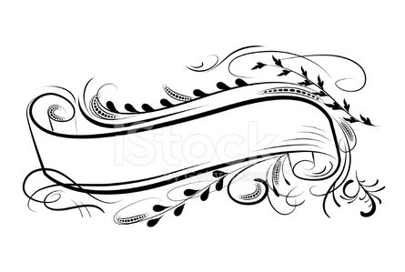 Calligraphic Flourishes Banner Vector Illustration