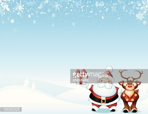 Santa Claus y Rudolph the Red-nosed Reindeer