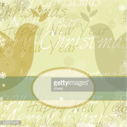 Christmas card with banner