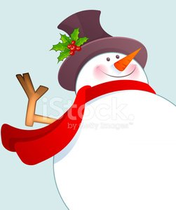 Vector illustration of Christmas Snowman