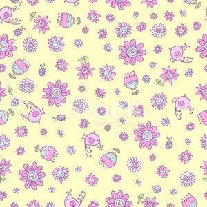 Springtime Flower Seamless Pattern