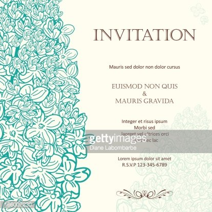 Lilac Floral Wedding Invitation Background Premium Clipart