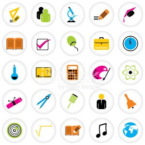 Colorful Icon Set : Education