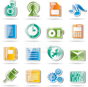 Mobile Phone Performance, Business and Office Icon