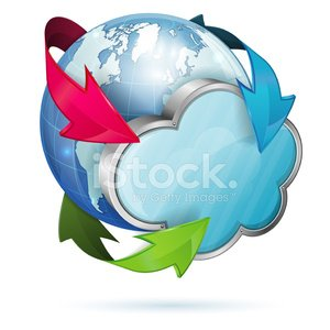 Global Access and Cloud Computing Concept