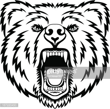 Bear fierce. Growling premium clipart clipartlogo