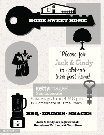 Housewarming Invitation Template Premium Clipart  ClipartlogoCom