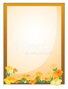 framed empty signage with flowers