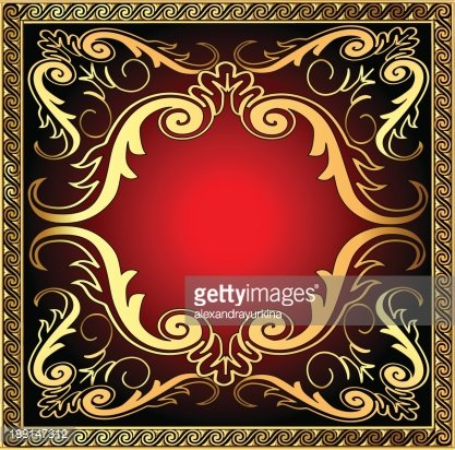 Background With Frame And Royal Golden Pattern