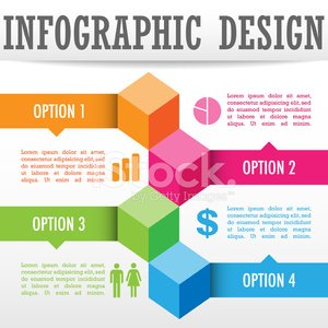 Colorful infographic design background