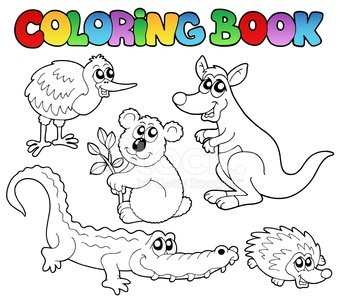 Coloring Book australische Tiere 1 Clipart Image | +1.566 ...
