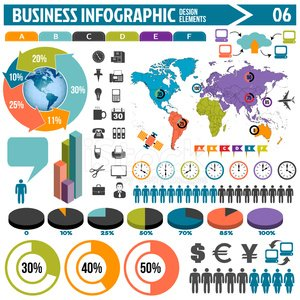 business infographic design elements