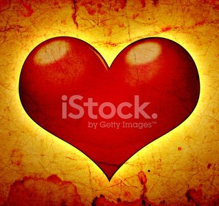 red hearts on a grunge background