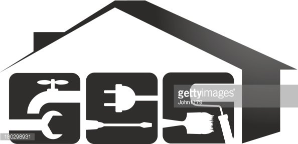 Renovation Room Home Interior Graphic Black White Sketch Illustration  Vector. Man Is Hammering A Nail. Woman Hanging Curtain Stock Vector -  Illustration of outline, doodle: 123275431