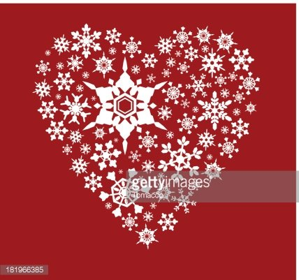 Heart Shape Christmas Decoration Made with Snowflakes