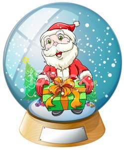 crystal ball with Santa Claus inside