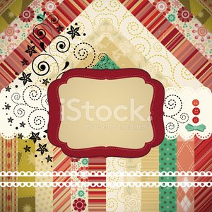 Scrap background made in the classic patchwork