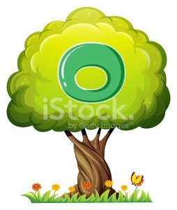 tree with a letter O